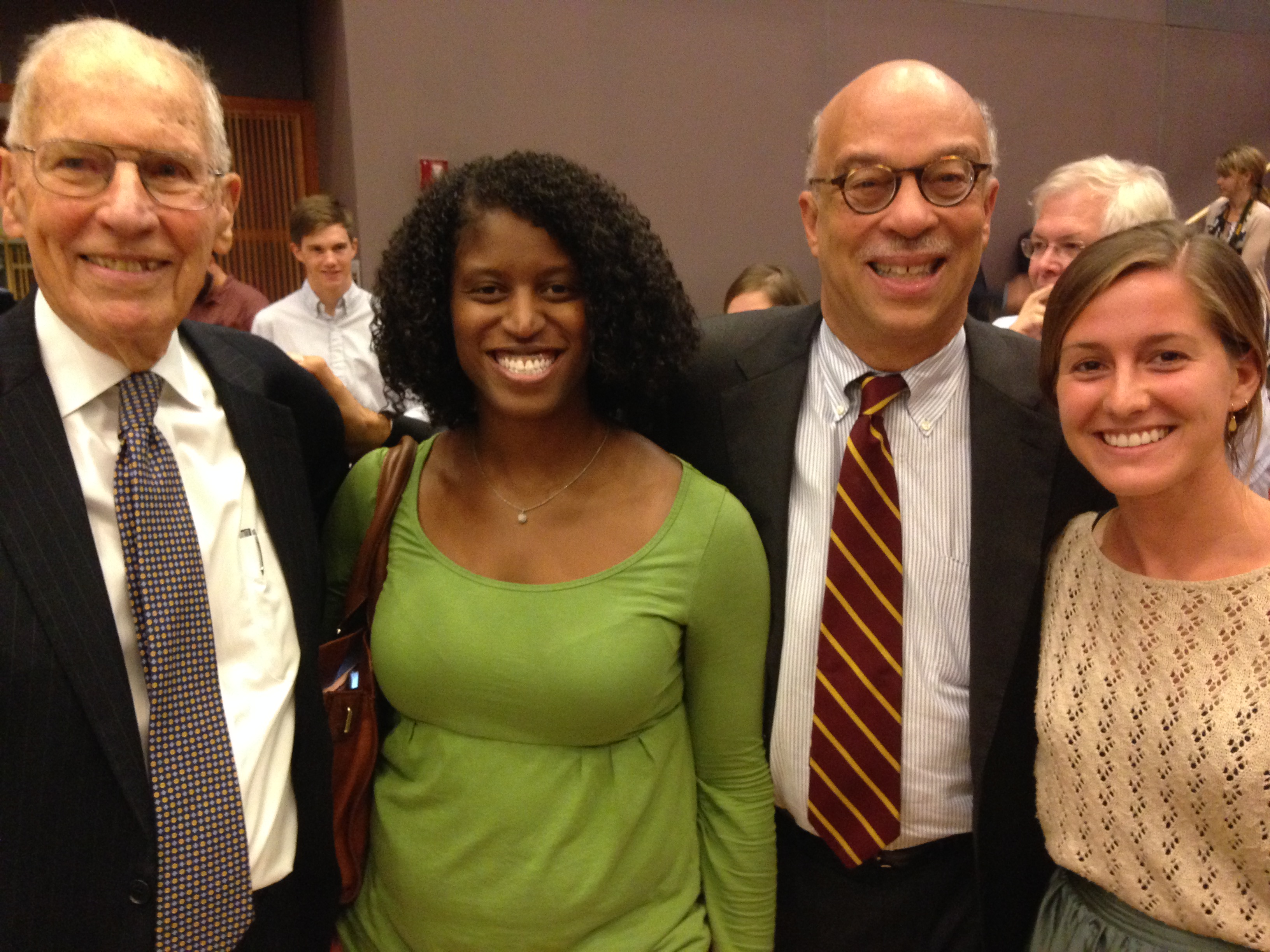 Governor William Winter with MDC's Shun Robertson, David Dodson, and Anna Ormond