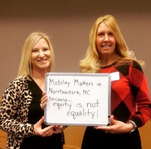 #NCMobilityMatters to Lori Preast and Rachel Bridgers of Pitt Community College because equity is not the same as equality