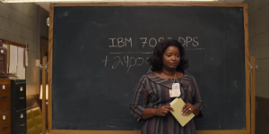 Octavia Spencer as Dorothy Vaughn teaching black female mathematicians about the IBM 7090. Source: https://ladybusiness.dreamwidth.org/2017/01/09/hidden-figures-brings-the-excellence-of-historic-black-women-to-2017.html
